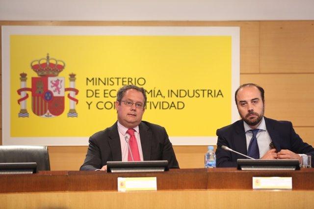 José Luis Káiser y Bernardo Aguilera en la sede del Ministerio de Economía