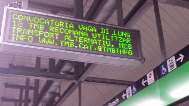 Vaga del Metre de Barcelona