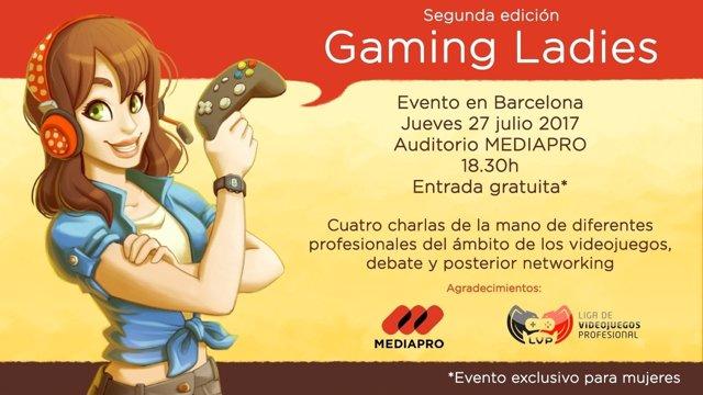 Cartell de l'esdeveniment Gaming Ladies