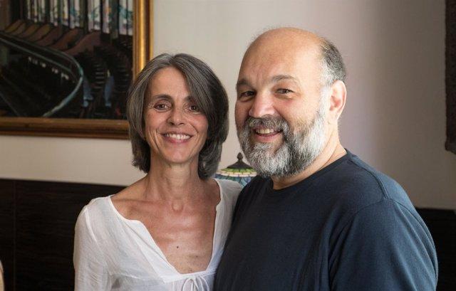 Alberto García-Demestres y Cristina Pavarotti
