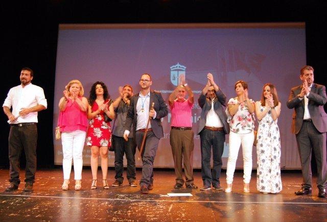 El alcalde de Valdemoro con ediles de su equipo de Gobierno