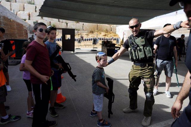 Centro de entrenamiento israelí para turistas en la Cisjordania ocupada