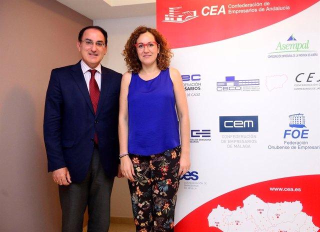 Presidente de CEA y secretaria general de CCOO-A