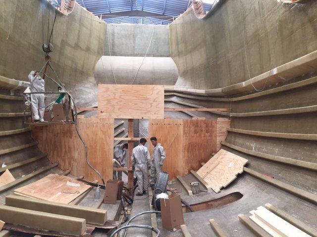Construcción de la nueva Nao Santa María