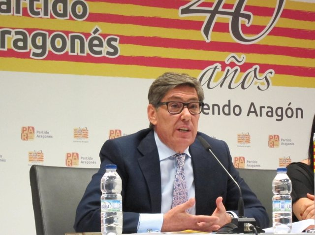 El presidente del PAR, Arturo Aliaga