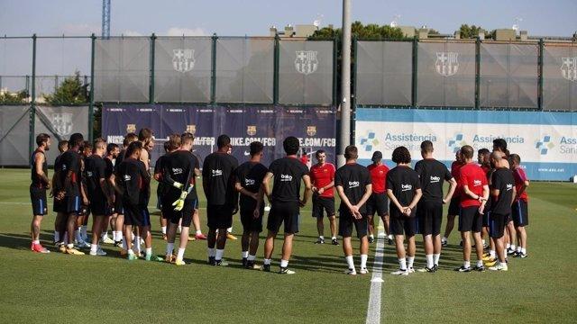 Barcelona entrenamiento Ernesto Valverde
