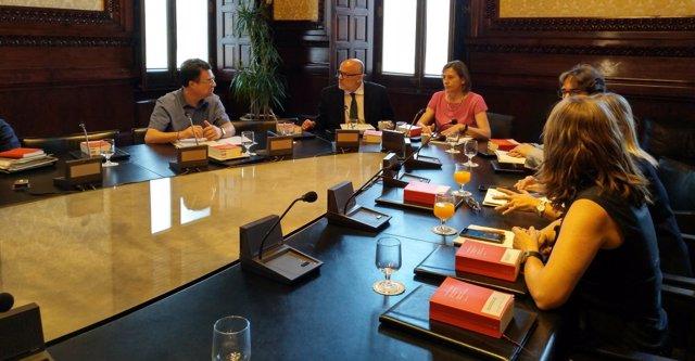 Reunión de la Mesa del Parlament de Catalunya