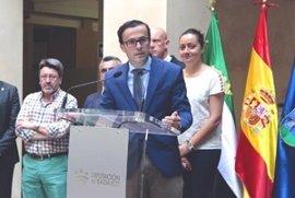 """Miguel Ángel Gallardo asegura que la provincia de Badajoz """"no podría respirar"""" sin la Diputación"""