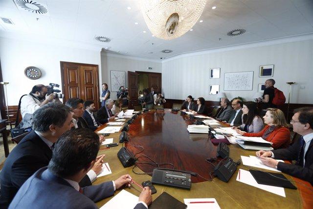 Reunión de la comisión de investigación del supuesto uso partidista de Interior