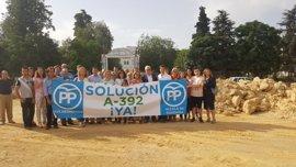 Virginia Pérez exige a la Junta que termine de ejecutar el proyecto en la carretera A-392 Alcalá-Dos Hermanas (Sevilla)