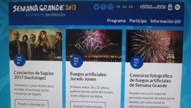 Ayuntamiento de San Sebastián pone en marcha una nueva web para la Semana Grande de este año