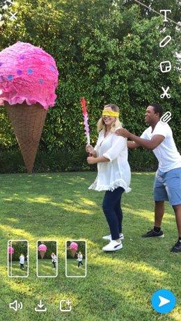 Modo Multi-Snap de Snapchat