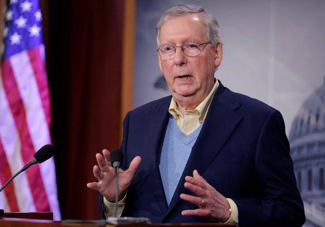 El portavoz del Partido Republicano en el Senado estadounidense, Mitch McConnell