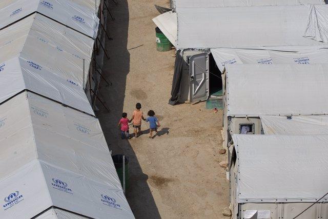 Campo de refugiados de Souda, en Quíos (Grecia)
