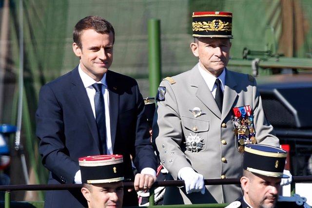 Emmanuel Macron y Pierre de Villiers