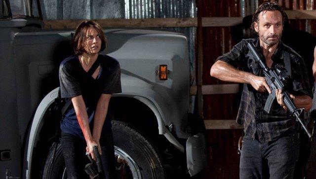 Rick y Maggie de The Walking Dead