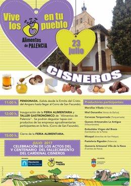 Palencia: Cartel de la Feria de Cisneros