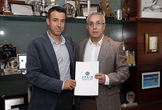 El presidente de la RFEDI, May Peus España, y el presidente del COE, Alejandro B
