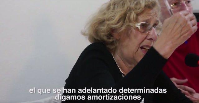 Manuela Carmena en un vídeo del PP