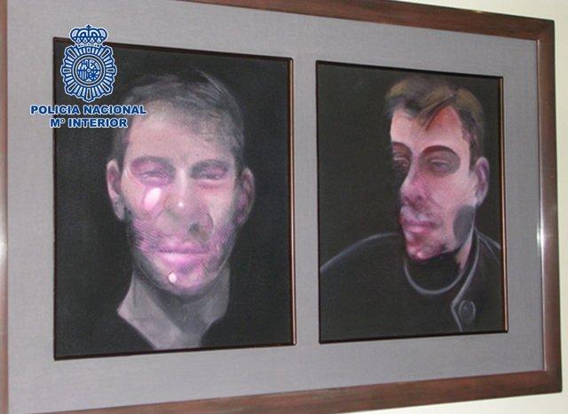 Dos de los cuadros robados de Francis Bacon