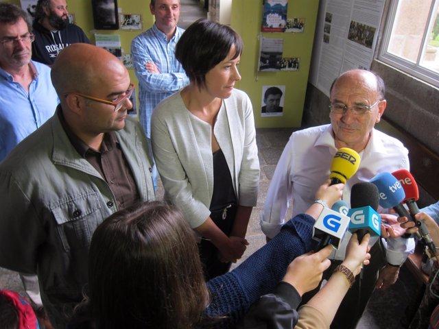 Ana Pontón (BNG) visita el IES Rosalía de Castro