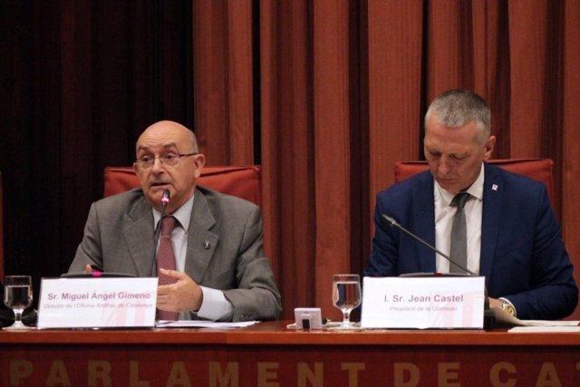Miguel Ángel Gimeno (Oac) y Jean Castel