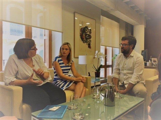 Noguera se reúne con consulados alemán y británico
