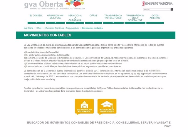 Página web GVA Oberta