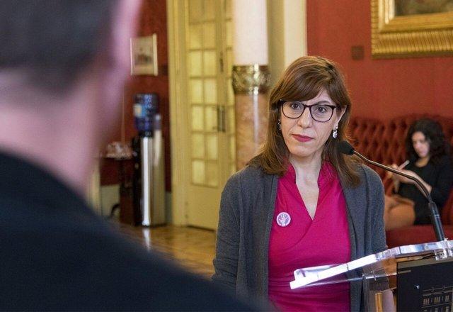 La portavoz de Podemos en el Parlament, Laura Camargo