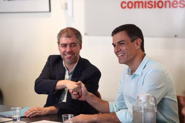 Pedro Sánchez se reúne con Unai Sordo en la sede de CCOO