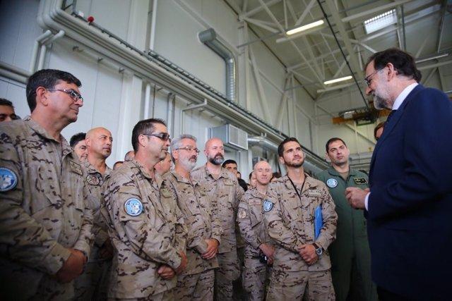 Rajoy visita a las tropas en Estonia