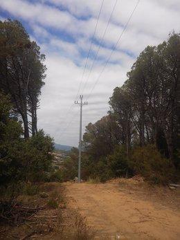 Uno de los soportes renovados en La Roca del Vallès