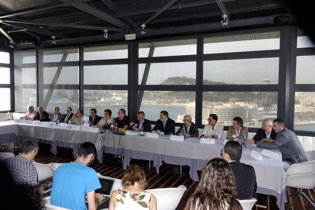 Comisión de la plataforma de afectados por el 'top manta'
