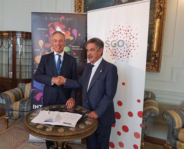 Firma del convenio Viesgo-FIS