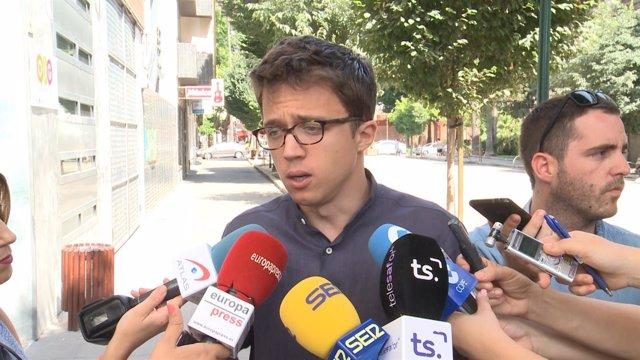 """Errejón pide """"prudencia"""" ante la muerte de Blesa"""
