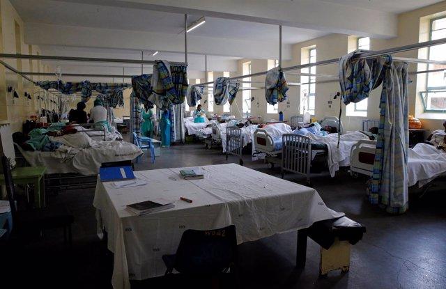 Pacientes de cólera en el Hospital nacional Kenyatta en Nairobi