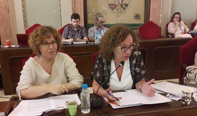 Concejalas Ahora Murcia en Pleno Extraordinario Presupuestos
