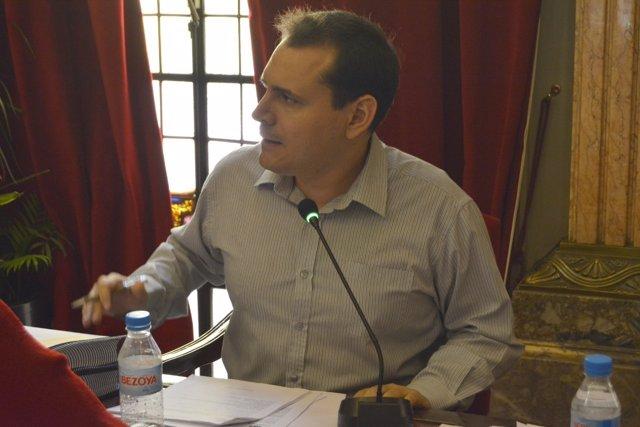 El concejal de Cambiemos Sergio Ramos en Pleno