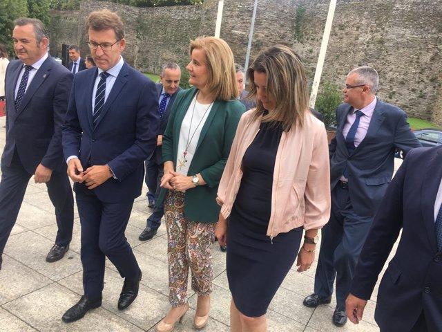 El presidente de la Xunta y la ministra de Empleo en Lugo.