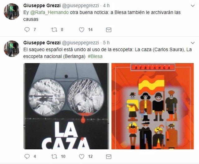 Tuits de Giuseppe Grezzi