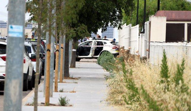Calle de Gavà donde se ha producido el tiroteo contra dos policías locales