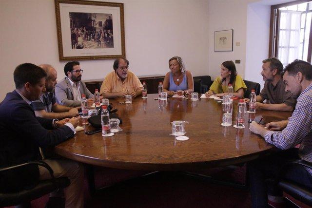 Reunión de los cinco grupos para abordar la RTVA