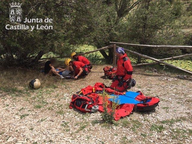 Imagen del rescate