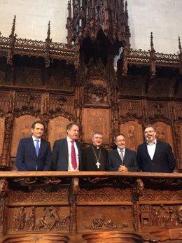 Inauguración de las obras del coro de la Catedral de Plasencia