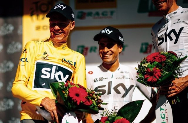 Mikel Landa y Chris Froome en el Tour de Francia