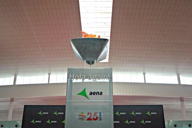 Aeropuerto de Barcelona-El Prat conmemora los 25 años de los JJ.OO.