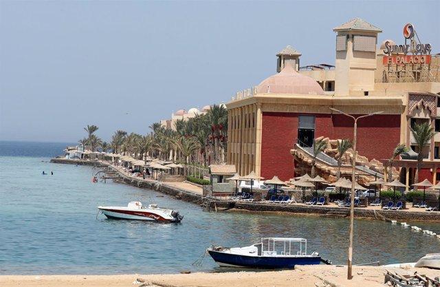 Vista general del complejo  Sunny Days El Palacio en Hurghada