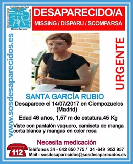 Imagen de la desaparecida en Ciempozuelos