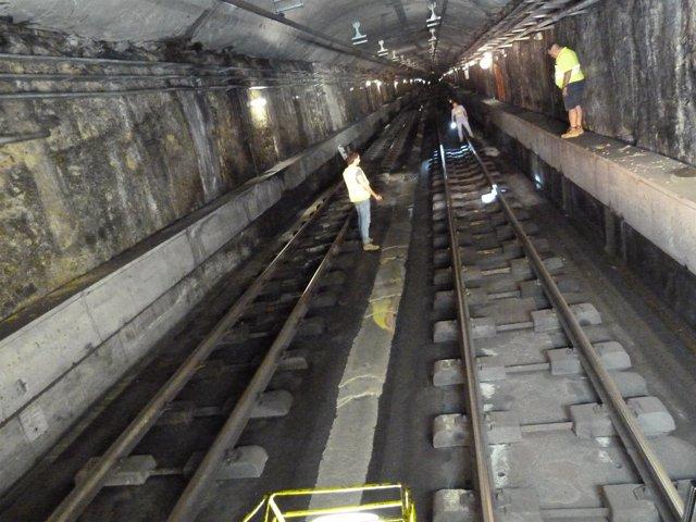 Inspección túnel Metrovalencia