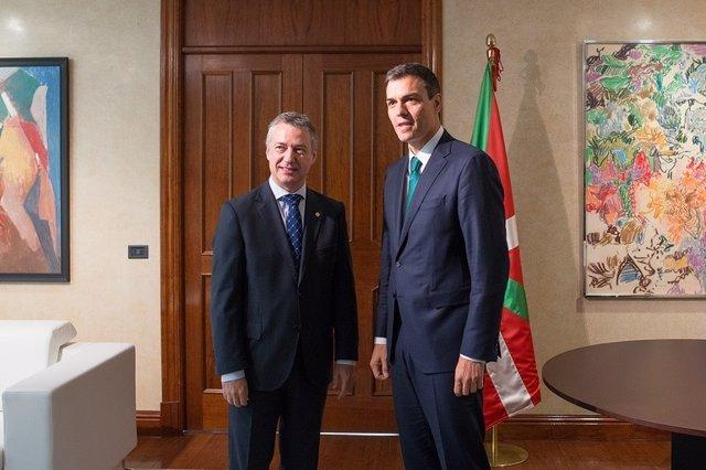 Lehendakari y Pedro Sánchez